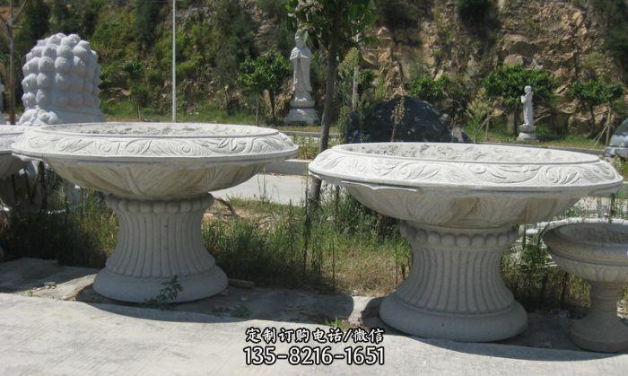 公园景观大理石花盆雕塑