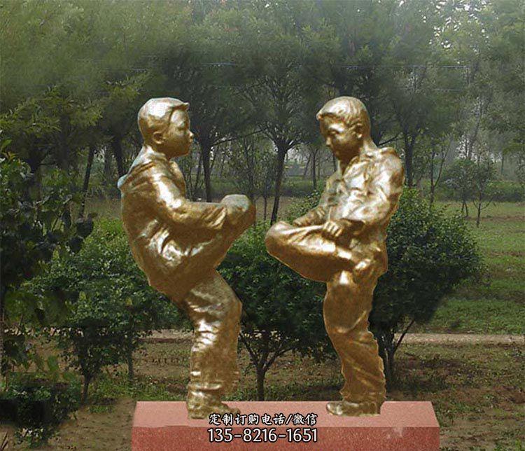 公园童趣铜雕-飞马玻璃钢雕塑