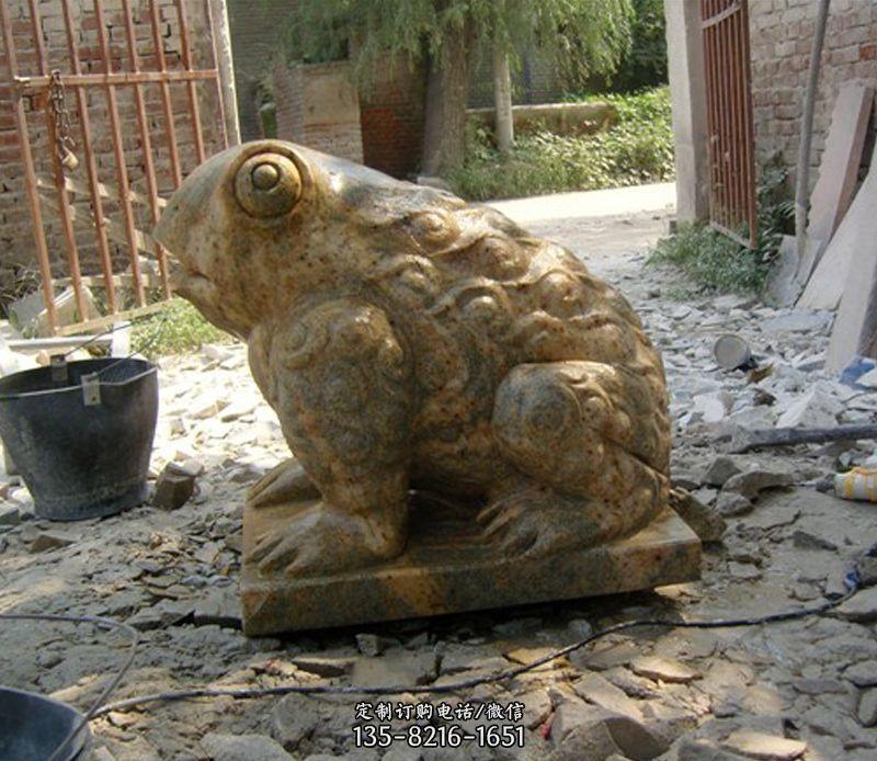 招财青蛙石雕-青蛙雕像