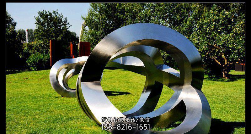 公园不锈钢抽象景观雕塑