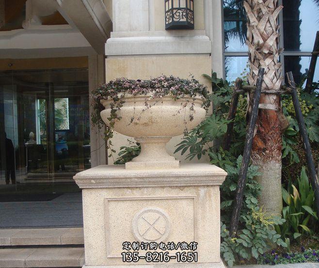 别墅景观大理石花盆石雕