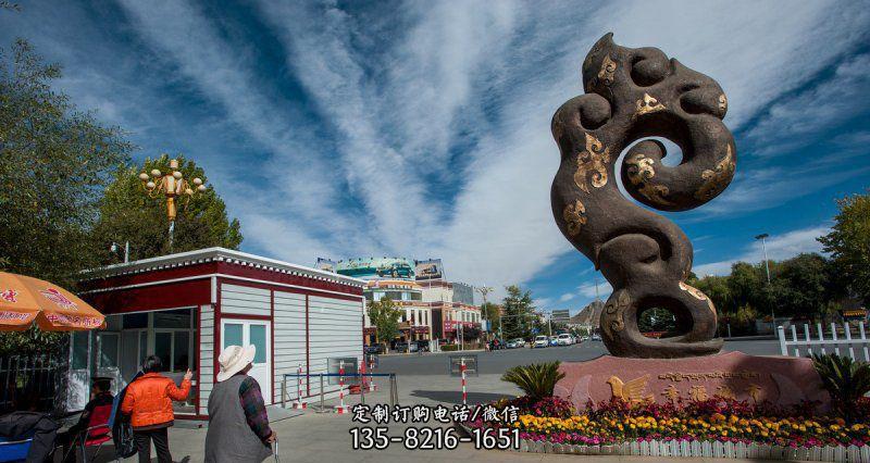 广场祥云景观铜雕