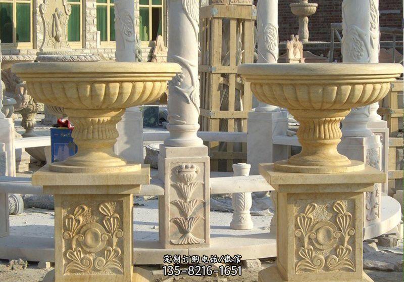 砂岩别墅花盆雕塑