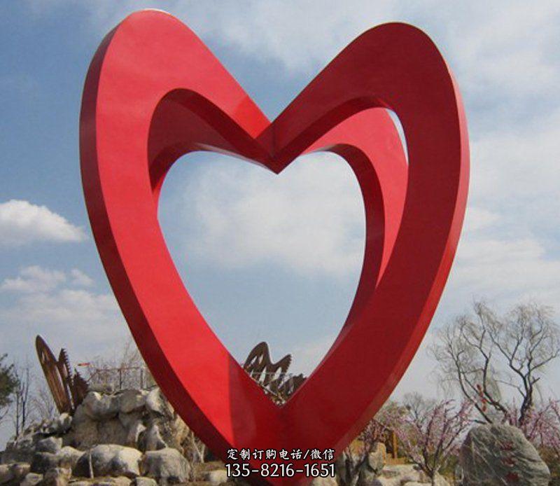 不锈钢心形公园雕塑
